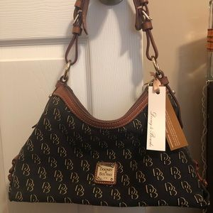 Smaller black Dooney and Bourke shoulder bag.